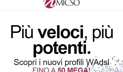 Micso WADSL nuovo profilo a 50 MEGA!